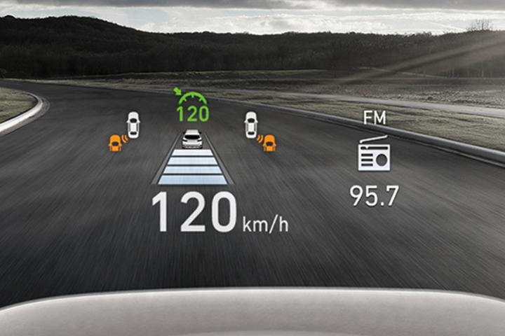 Hiển thị thông tin trên kính lái