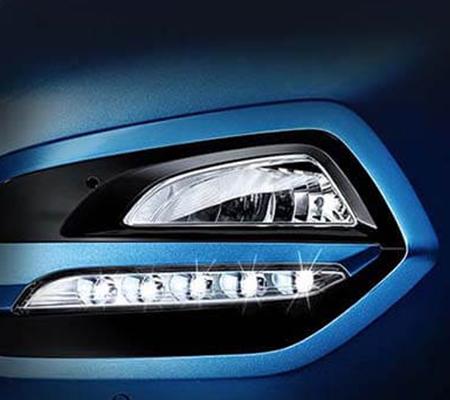 Đèn sương mù kết hợp đèn LED chiếu sáng ban ngày DRL làm tăng hiệu quả chiếu sáng