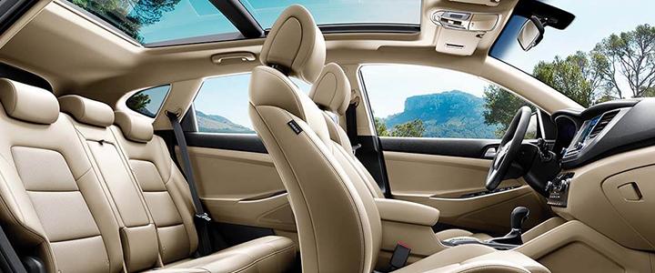 Hyundai Tucson sở hữu một không gian nội thất trực quan, được tối ưu hóa về mặt không gian